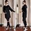 เสื้อผ้าเกาหลี เซ็ท เดรสฮู้ด+กางเกง พร้อมส่ง thumbnail 2
