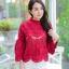 เสื้อเกาหลีลูกไม้คอกลม ผ้าชีฟอง พร้อมส่ง thumbnail 12