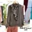 Shirt ผ้าดีแต่งระบายพลีท พร้อมส่ง thumbnail 3