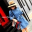 เดรสเกาหลี พร้อมส่ง Mini Dress ชุดมินิเดรสยีนส์ thumbnail 4