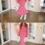 เสื้อผ้าเกาหลี พร้อมส่ง เสื้อคอวีปาดไหล่กับกระโปรงจีบทวิต thumbnail 6