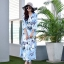 ชุดเดรสเกาหลี พร้อมส่ง Maxi Dress ลายดอก thumbnail 6