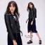 เสื้อเกาหลี ZARA Leather Jacket แจ็คเก็ตหนัง พร้อมส่ง thumbnail 4