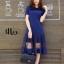 ชุดเดรสเกาหลี พร้อมส่ง Long Dress เดรสยาว ชายระบาย thumbnail 1