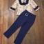 พร้อมส่ง เสื้อกับกางเกงสีน้ำเงิน-กรม thumbnail 9