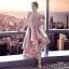 เดรสเกาหลี พร้อมส่ง เดรสลุคสวยหรูสีชมพูหวาน thumbnail 3