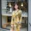 ชุดเดรสเกาหลี พร้อมส่ง เดรสลายดอก คอวี ผ้าพริ้ว thumbnail 2