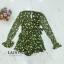 เสื้อผ้าเกาหลี พร้อมส่ง จั๊มสูทสีเขียว ผูกโบว์ข้าง thumbnail 7