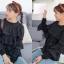 เสื้้อเกาหลี พร้อมส่ง Jumper แต่งระบายชั้น thumbnail 2