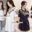 พร้อมส่ง เสื้อเกาหลีปักลายดอกไม้ thumbnail 1