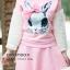 เสื้อเกาหลี พร้อมส่ง จั้มเปอร์ฮู้ด ลายกระต่าย thumbnail 9
