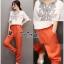 พร้อมส่ง ชุดเซตเสื้อกับกางเกงสีส้ม thumbnail 4