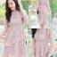 ชุดเดรสลูกไม้ พร้อมส่ง Lace Dress ทรงบาน thumbnail 2
