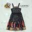 ชุดเดรสเกาหลี พร้อมส่ง Dress ยาวแขนกุดพิมพ์ลาย thumbnail 3