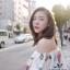 ชุดเดรสเกาหลี พร้อมส่ง เดรสยาวสีขาวลายดอกไม้ thumbnail 5