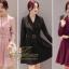ชุดเดรสเกาหลี พร้อมส่ง Dress คอปก แขนยาว thumbnail 4