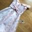 เดรสเกาหลี พร้อมส่ง เดรสผ้าทูลเลปักลายดอกไม้ thumbnail 18