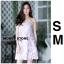 ชุดเดรสเกาหลี พร้อมส่ง mini dress สายเดี่ยว ทรงเข้ารูป thumbnail 1