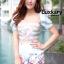 เสือผ้าเกาหลี พร้อมส่ง Jumpsuit ลายริ้ว thumbnail 4