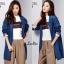 เสื้อเกาหลี พร้อมส่ง Blazer Jean เสื้อคลุม thumbnail 4