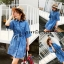 เดรสเกาหลี พร้อมส่ง Mini Dress ชุดมินิเดรสยีนส์ thumbnail 1