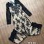เสื้อผ้าเกาหลี พร้อมส่ง จั้มสูทผ้าลูกไม้แขนยาว thumbnail 7