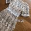 เดรสลูกไม้ พร้อมส่ง เดรสผ้าลูกไม้โปร่ง ทอลายดอกไม้ thumbnail 11