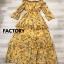 ชุดเดรสเกาหลี พร้อมส่ง Maxi Dress ปาดไหล่สม็อก thumbnail 6
