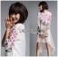 เดรสเกาหลี พร้อมส่ง เดรสสีขาว ปักลายดอกกุหลาบ thumbnail 9