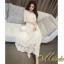 ชุดเดรสเกาหลี พร้อมส่ง Dress ลูกไม้ คอเหลี่ยม thumbnail 8