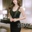 พร้อมส่ง Dress ลุคเรียบหรู ไฮโซ Saxy thumbnail 6