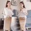 เสื้อผ้าเกาหลี พร้อมส่ง จั้มเปอร์กับกระโปรงทรงสอบ thumbnail 2
