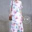 ชุดเดรสเกาหลี พร้อมส่ง Maxi Dress ทรงปล่อย thumbnail 6