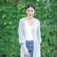 เสื้อเกาหลี พร้อมส่ง เสื้อคลุมตัวยาว แขนจั้มกระบอก thumbnail 6