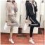 เสื้อผ้าเกาหลี พร้อมส่ง เสื้อ+ กางเกงขายาว thumbnail 4