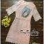 ชุดเดรสเกาหลี พร้อมส่ง เดรสผ้าลูกไม้ลายดอกไม้ thumbnail 10