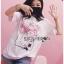 เสื้อเกาหลี พร้อมส่ง ทีเชิ้ตสีขาวปักดอกไม้ thumbnail 7