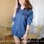 เสื้อเกาหลี พร้อมส่ง เสื้อเชิ้ตยีนส์ 2 สี thumbnail 7