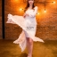 พร้อมส่ง Maxi dress ยาวสีขาว thumbnail 1