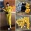 เสือผ้าแฟชั่นเกาหลี พร้อมส่ง เสื้อ+กางเกง BRAND GUCCI thumbnail 2