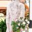 พร้อมส่ง Long dress สีชมพูโอรส แขน 5 ส่วน thumbnail 6