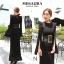 ชุดเดรสเกาหลี พร้อมส่ง maxi dress ยาวสีดำ thumbnail 4