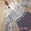 เสื้อผ้าเกาหลี พร้อมส่ง จั๊มสูท เว้าไหล่ ลายดอกไม้ thumbnail 6