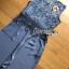 เสื้อผ้าเกาหลี พร้อมส่ง จัมป์สูท ผ้าเครปและผ้าลูกไม้สีเทาเข้ม thumbnail 18