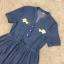 พร้อมส่ง Mini dress ยีน กระดุมคอหน้า 3 เม็ด thumbnail 7