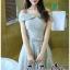 พร้อมส่ง เดรสผ้าลูกไม้ออกงานสไตล์เกาหลี thumbnail 2