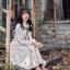 ชุดเดรสเกาหลี พร้อมส่ง Dress ยาว สีครีม thumbnail 5