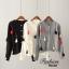 เสื้อเกาหลี พร้อมส่ง คาดิเเกนผ้าไหมพรม thumbnail 3