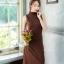 เดรสเกาหลี ผ้ายืดกระโปรงทรงA thumbnail 9