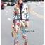 เสื้อผ้าเกาหลี พร้อมส่ง เสื้อกับกางเกงพิมพ์ลายดอกไม้ thumbnail 3